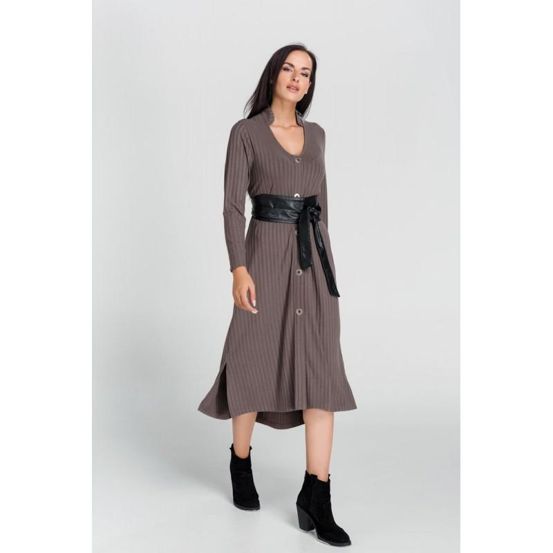 Οικονομικα Βραδινα Φορεματα - Φορεματα xxl - Φορεματα Φορεματα - Fuego Fashion - Φόρεμα Κουμπωτό Μεγάλα Μεγέθη
