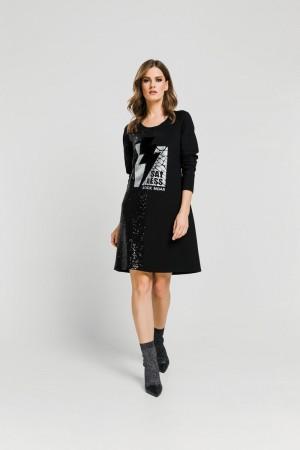 Φόρεμα Παγιέτα και Τύπωμα