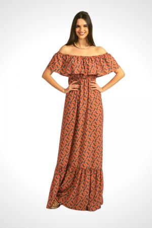 Φόρεμα Λαχούρι με Βολάν