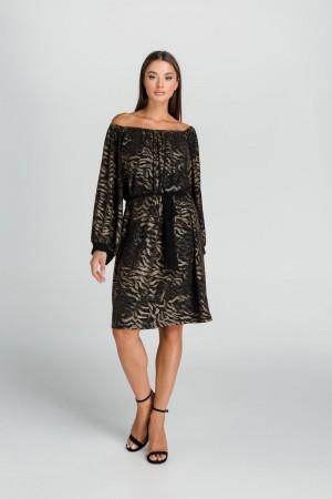 Φόρεμα Λούρεξ με Σούρα