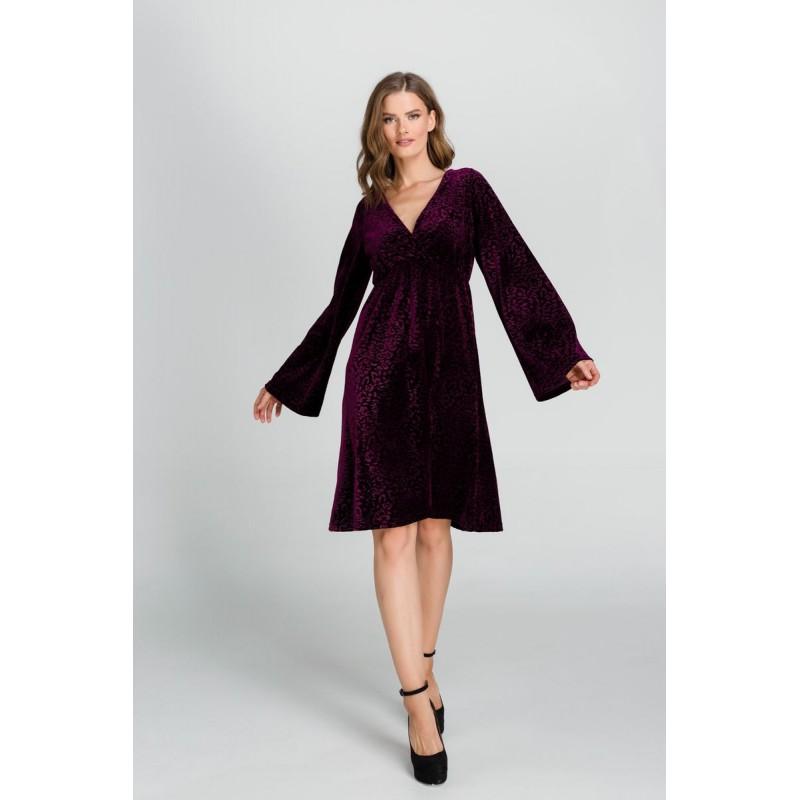 Φόρεμα Βελούδο Ανάγλυφο Μεγάλα Μεγέθη