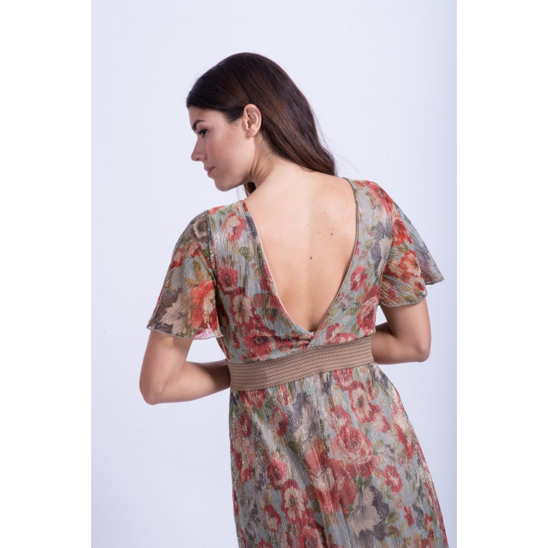 Φορεματα xxl – φορεματα μαξι εμπριμε με λουρεξ τουλι