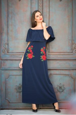 Φόρεμα Μάξι με Βολάν και Λουλούδια