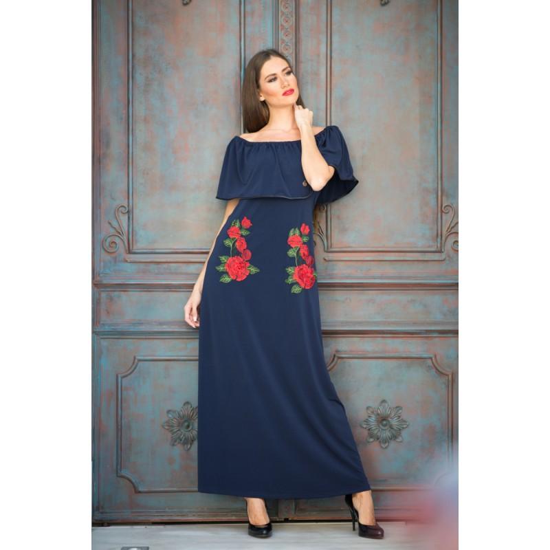 Φορεματα xxl - φορεματα μαξι με βολαν και λουλουδια