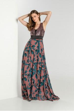 Φόρεμα Μουσελίνα με Παγέτα