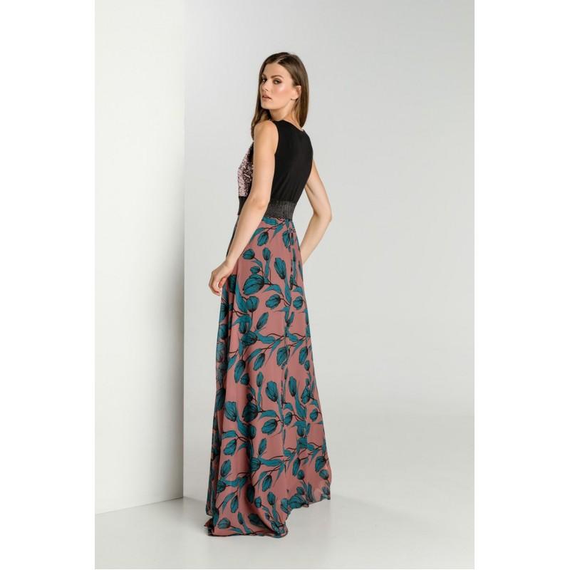 Φόρεμα Μουσελίνα με Παγέτα  Φορέματα xxl