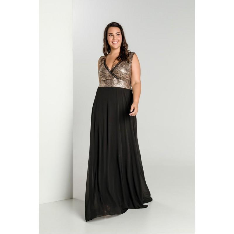 Οικονομικα Βραδινα Φορεματα - Φορεματα xxl - Φορεματα Φορεματα - Fuego Fashion - Φόρεμα Μουσελίνα με Άνιμαλ  Φορέματα xxl