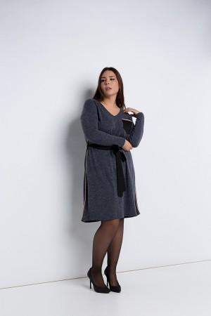 Φόρεμα Μίντι Πλεκτό με Ρίγες και Ζώνη